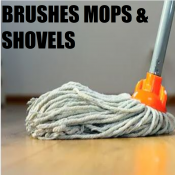 BRUSHES MOPS & CLEANING