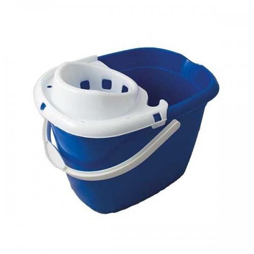 MBP15LB - Plastic Mop Bucket w/ Wringer 15L BLUE