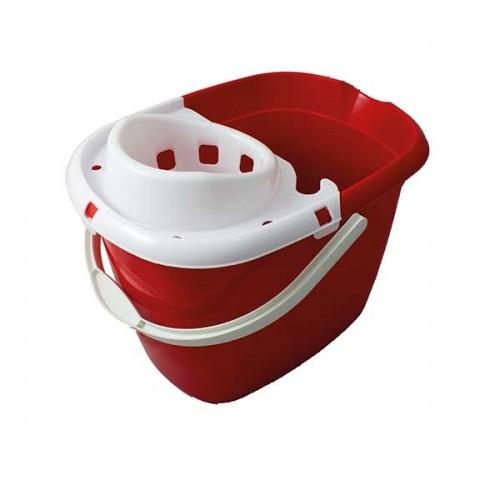 MBP15LRE -Plastic Mop Bucket w/ Wringer 15L RED
