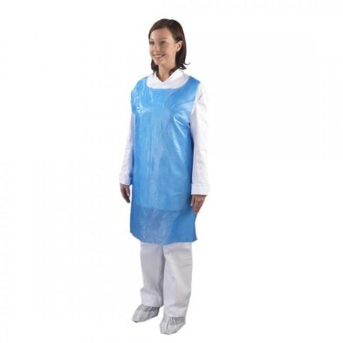 Disposable Aprons - Blue x100