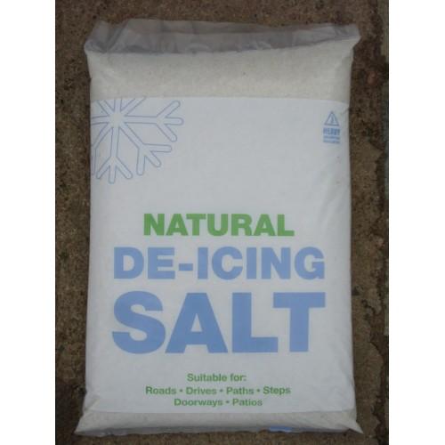 RS25 - De-Icing White Rock Salt - 24KG