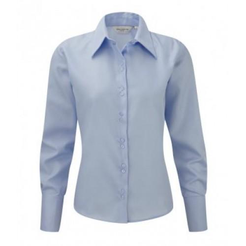 956F - Ladies L/s Non Iron Luxury Shirt | BRIGHT SKY
