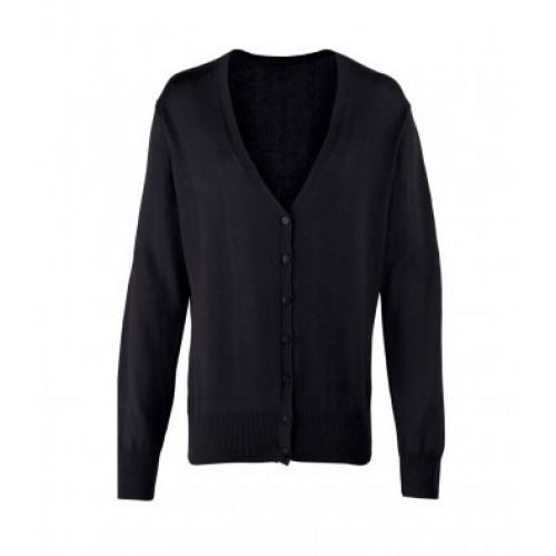 PR697 - Premier Ladies Button Knitted Cardigan   BLACK