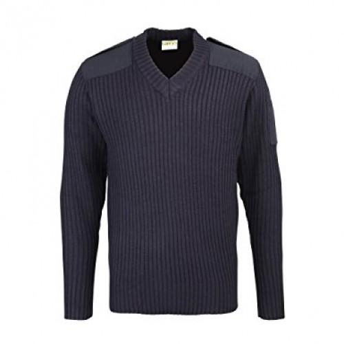 RTY22 - RTY Nato Style V Neck Sweater | NAVY