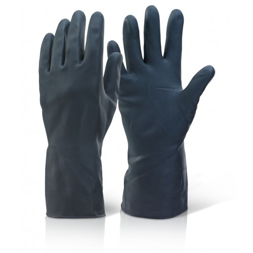 Heavyweight Rubber Gloves - Black
