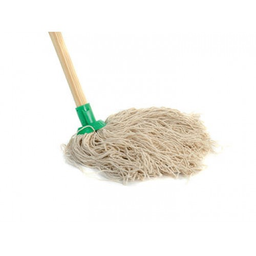 MOP14H - Wool Mop No. 14 with Wooden Handle