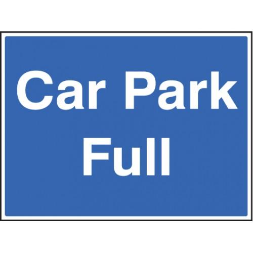 Car Park Full C/w Frame 600x450mm