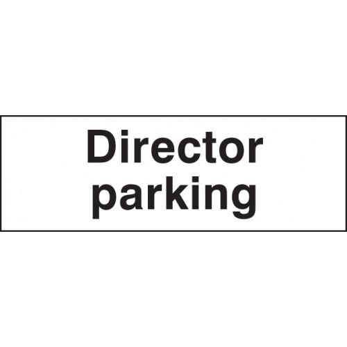 Director Parking | 450x150mm |  Rigid Plastic
