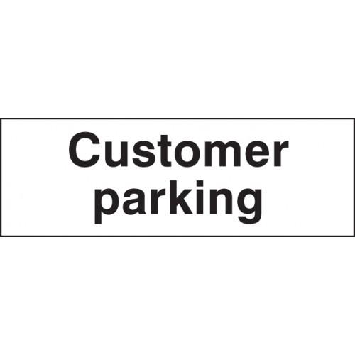 Customer Parking | 450x150mm |  Rigid Plastic