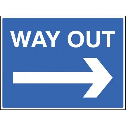Way Out ---> | 600x450mm |  Rigid Plastic