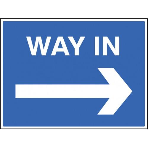 Way In ---> | 600x450mm |  Rigid Plastic