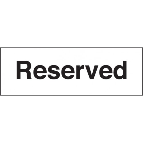 Reserved | 300x100mm |  Rigid Plastic