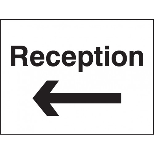 Reception Arrow Left/Right Signs