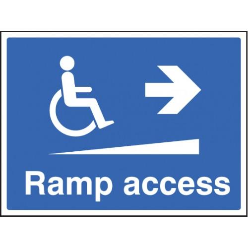 Ramp Access Right   600x450mm    Rigid Plastic
