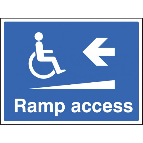 Ramp Access Left | 400x300mm |  Rigid Plastic