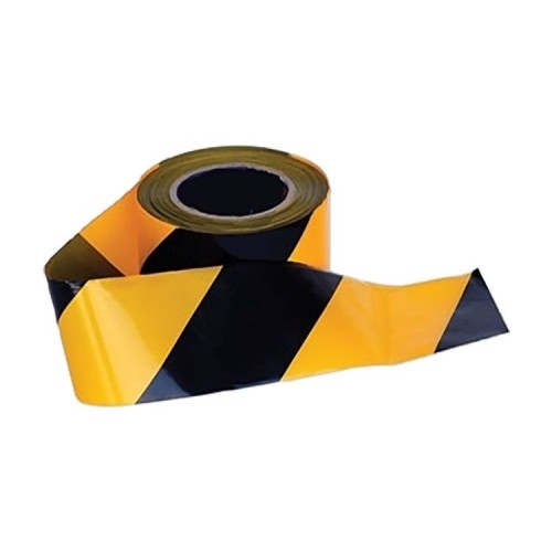 Barrier Tape 75mm x 500m Yellow and Black