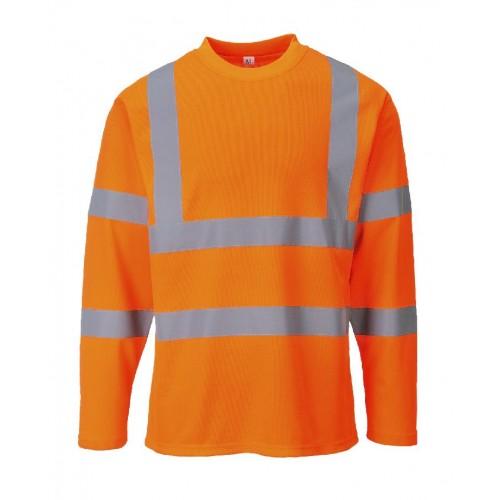 S278 - Hi-Vis T-Shirt Long Sleeves | Orange