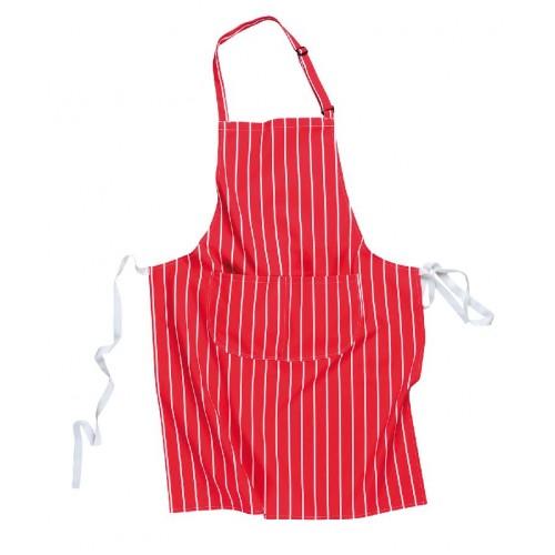 Butchers Apron w. Pocket, Red,  | R
