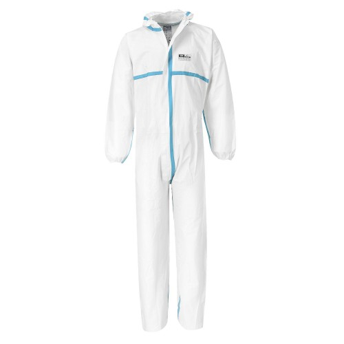 Biztex 4/5/6 Coverall| White | Large