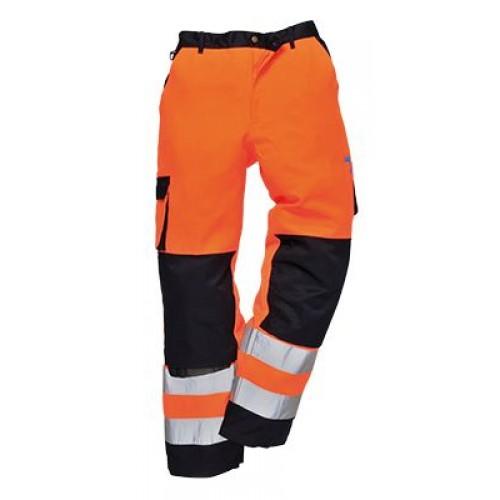 Roubaix Hi-Vis Trousers | Orange/Navy