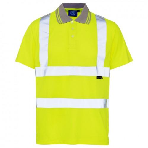 Hi-Vz Breathable Polo | Yellow