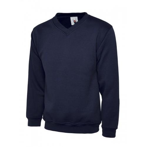 UC204 - Suresafe Classic V-neck Sweatshirt | Navy Blue
